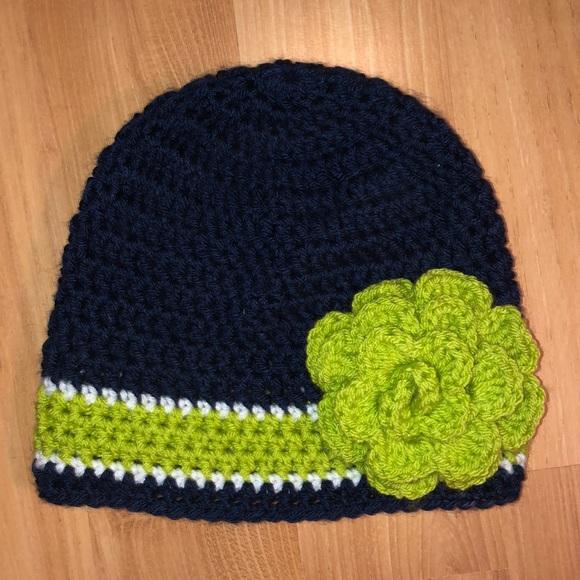 Accessories Handmade Crocheted Seattle Seahawks Beanie Poshmark